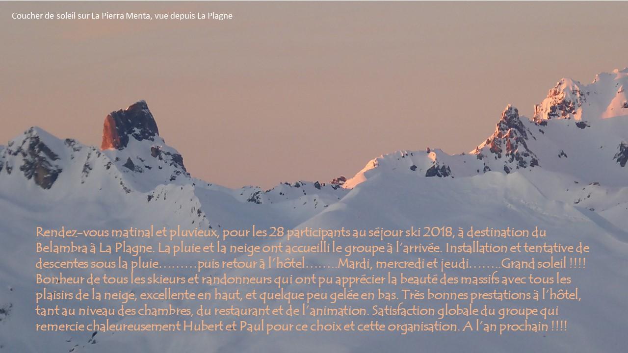 résumé séjour ski 2018