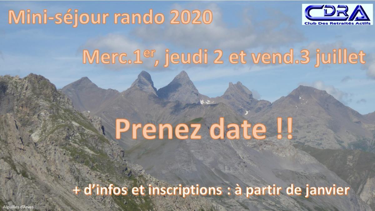1ere info mini sejour 2020